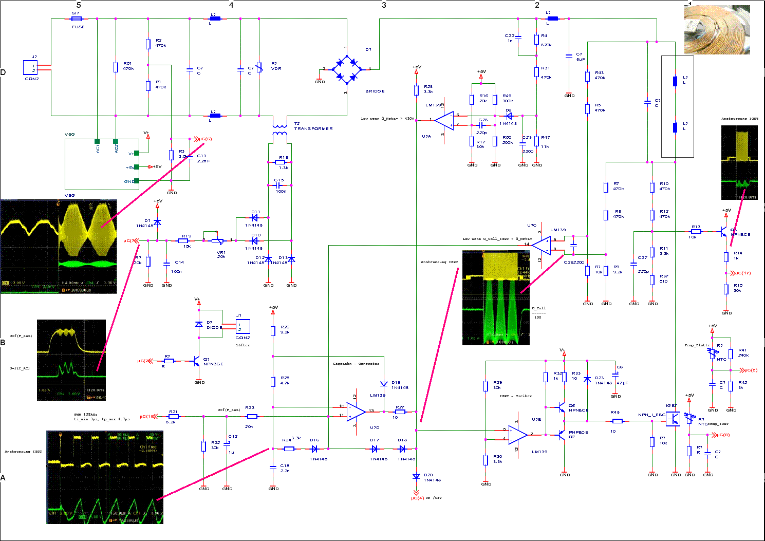 ALASKA INDUCTION COOKING SCHEMATIC WITH OSCILLOGRAM ...
