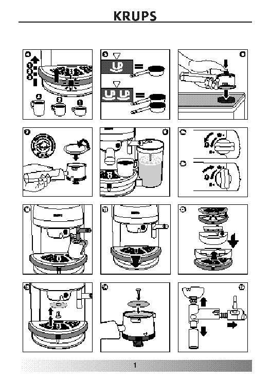 Krups Coffee Maker Repair Manual : KRUPS F927 USER HUN Service Manual download, schematics, eeprom, repair info for electronics experts