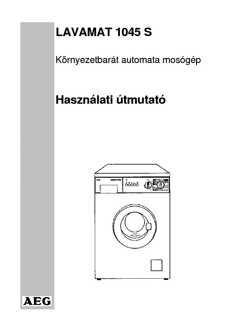 aeg lavamat protex washing machine manual