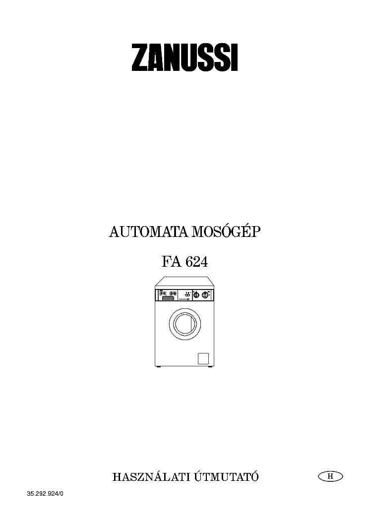 Zanussi Fa624 User Manual Hun Service Manual Download