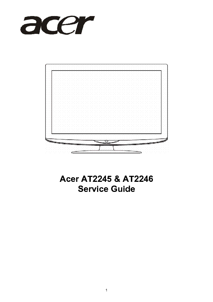 Anyone have the technical manual of acer at3201w lcd televisions.