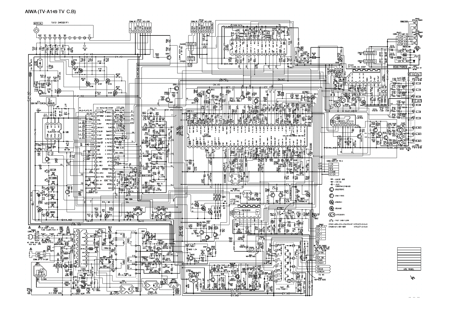 Aiwa Tv Circuit Diagram Wiring And Hub Color Television Se141 Type K Eg Schematic C1400 Chassis Cp 005a Service Manual Download Schematics Rh Elektrotanya Com Am Radio Block