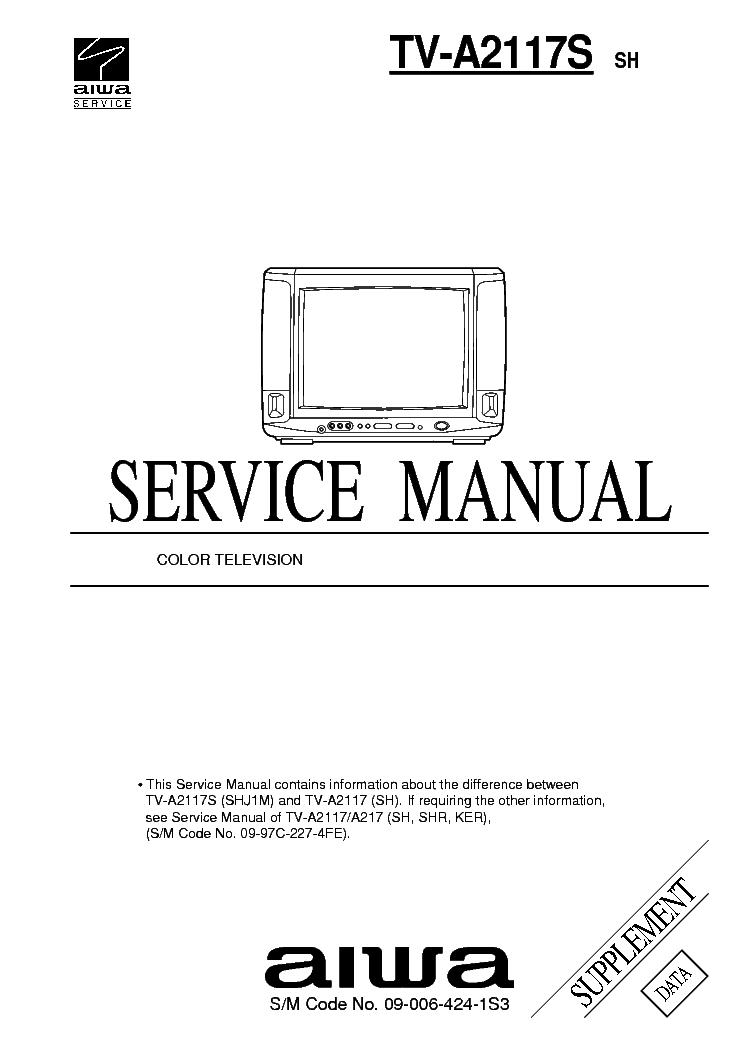 aiwa tv a2117s service manual download schematics eeprom repair rh elektrotanya com aiwa tv-c141ker service manual