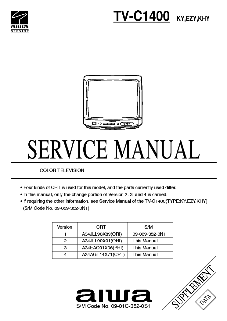 aiwa tv c1400 ky ezy khy service manual download schematics eeprom rh elektrotanya com aiwa led tv manual aiwa tv a219 manual