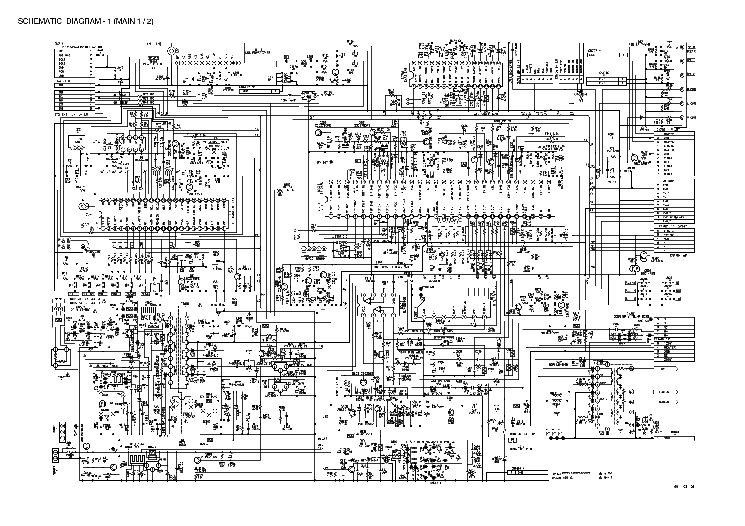 Aiwa Tv Schematic Diagram House Wiring Symbols Color Television Se141 Type K And Eg F2100 Service Manual Download Schematics Eeprom Repair Rh Elektrotanya Com Theremin Simple