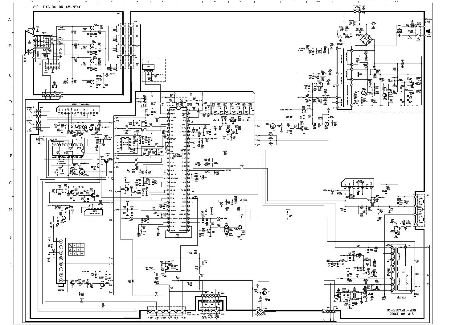 AKAI CT-2190 SCH service manual (1st page)