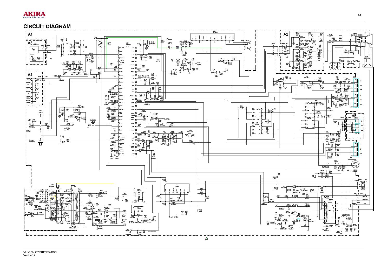 akira ct-21dx9a ss1 эл схема