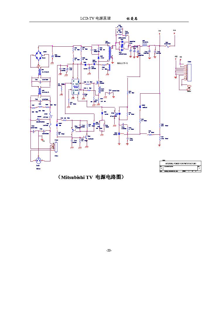 AOC 17    MITSUBISHI    POWER    INVERTER    SCH Service Manual