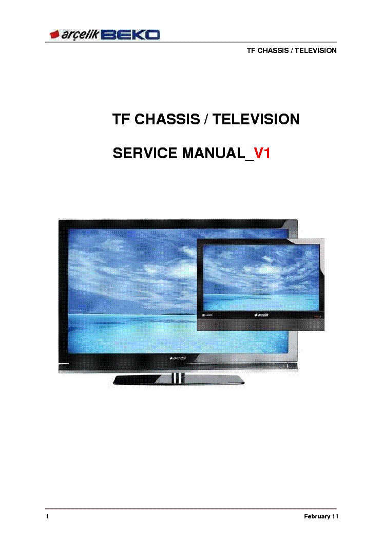 Lcd Led Beko Grundig Tf Chassis Service Manual Service