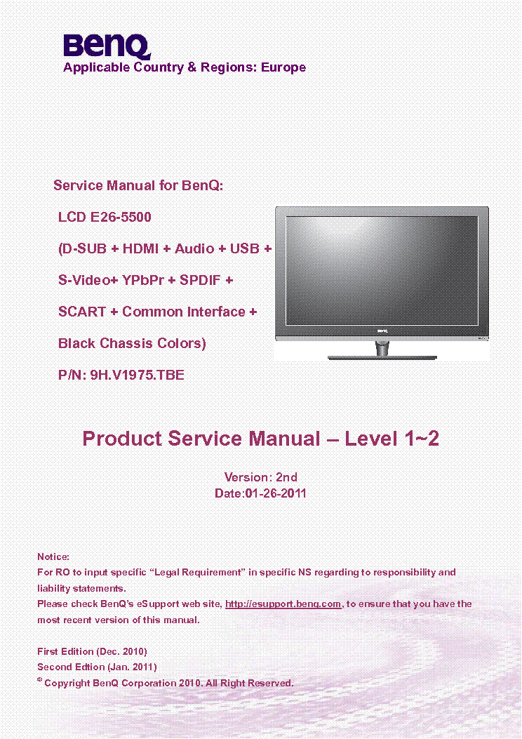 BENQ E26-5500 DRIVERS FOR PC