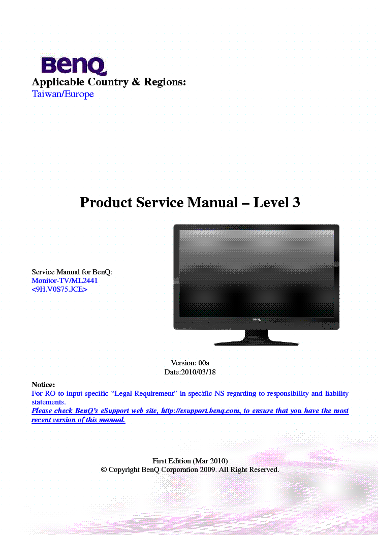 lcd tv service manual free download pdf