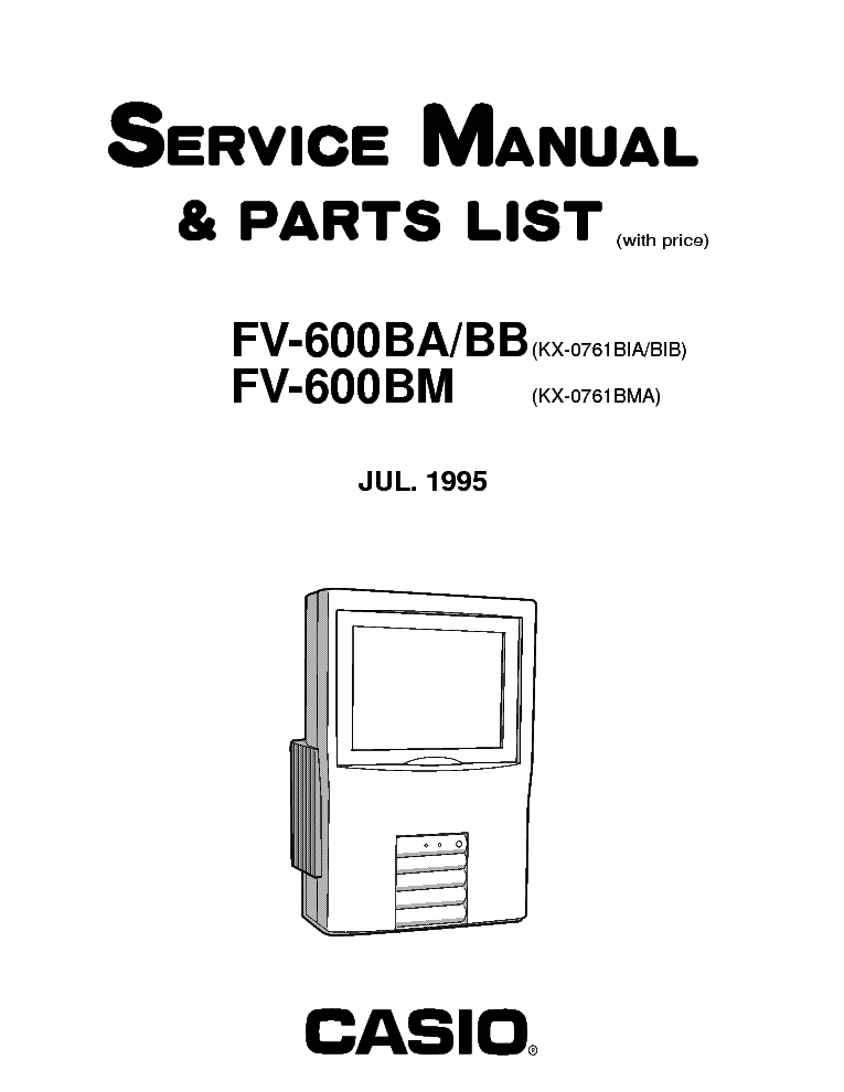 Casio c-330 service manual – electronic service manuals.