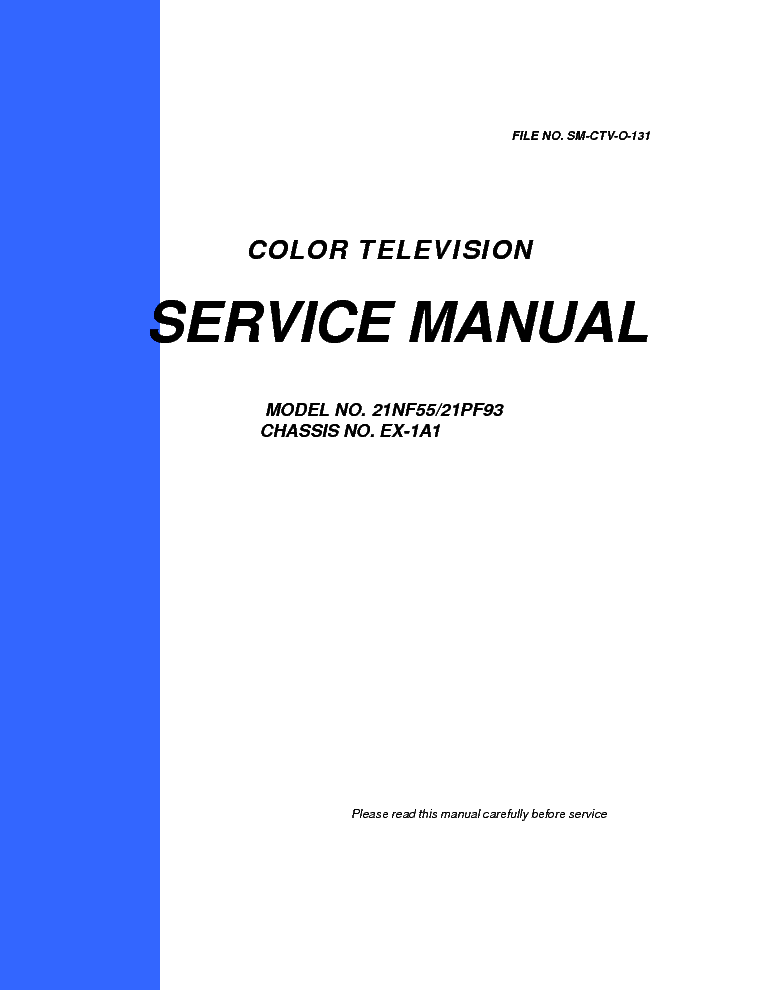 changhong ex-1a1 service manual service manual (1st page)