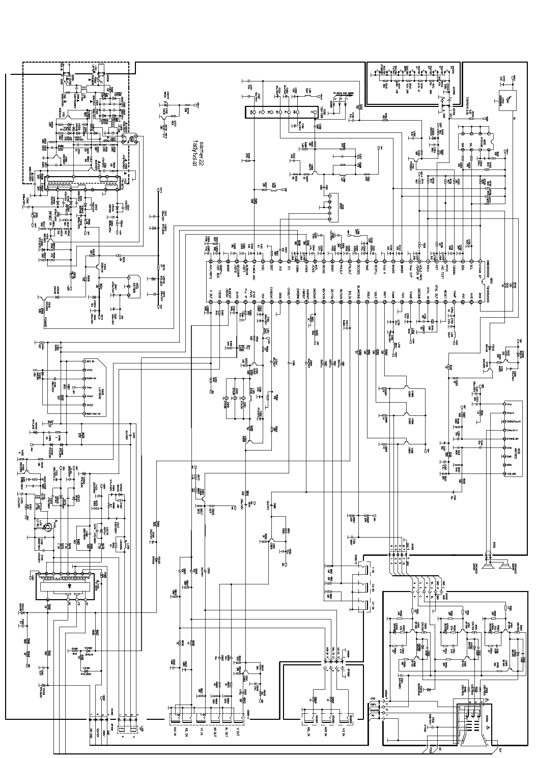 china tda93xx om83xx la78040 an7523 sch service manual