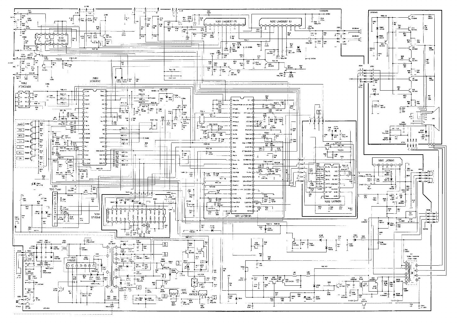 China Tv Diagram Content Resource Of Wiring T V Circuit Mr2920 La78041 Lc863532 La76818 La4285 La4287 Sch Service Rh Elektrotanya Com Chassis Pcb