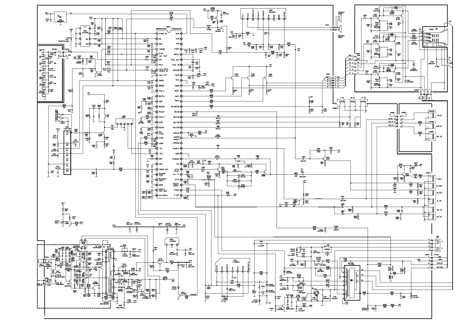 SATURN ST1401 - TDA93XX OM83XX 0 , LA78040 , AN7523N - TV ...