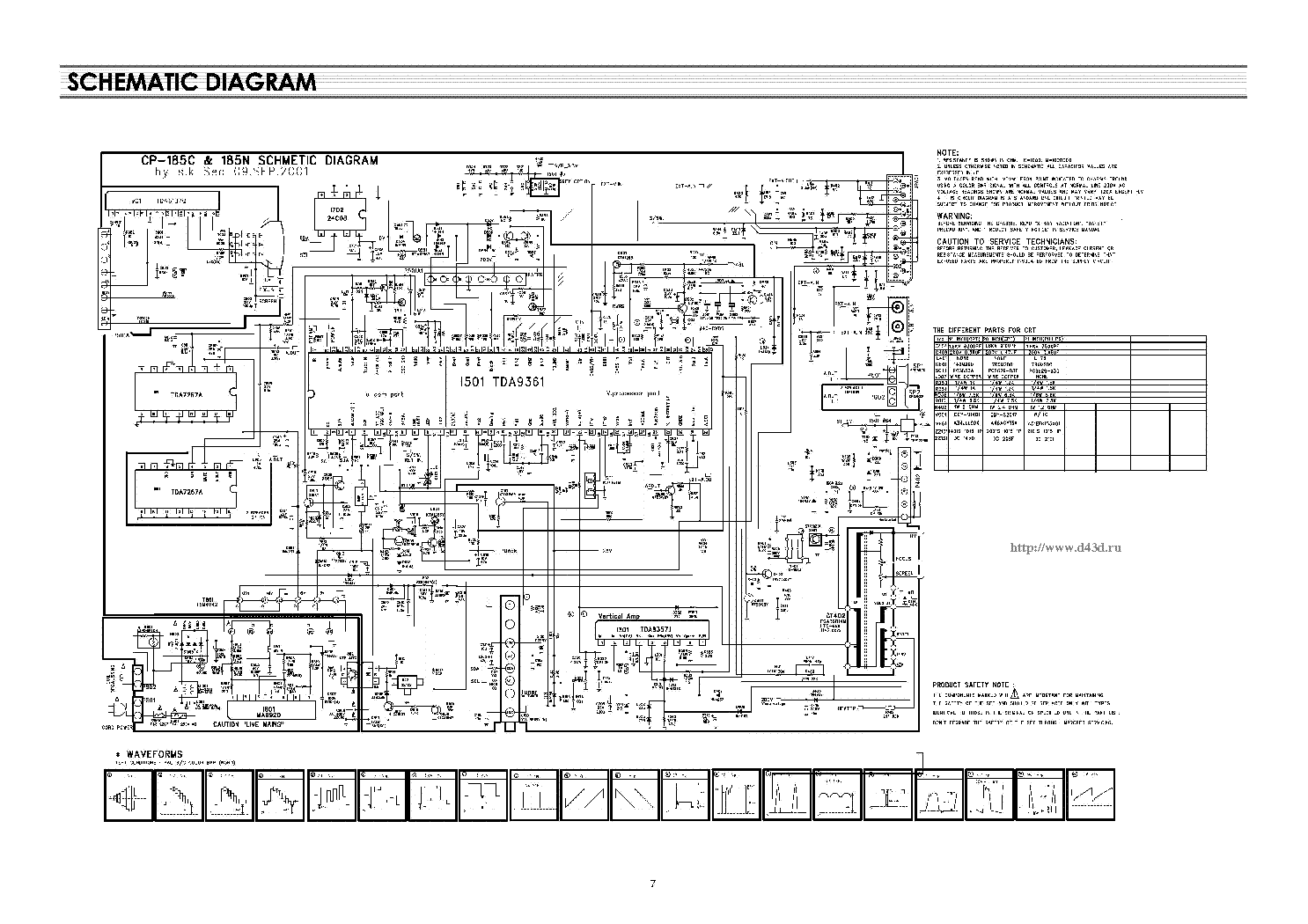 daewoo ctv2195 tv d service manual download  schematics  eeprom  repair info for electronics experts