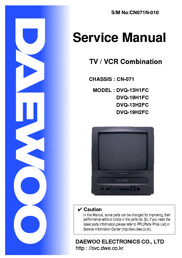 Daewoo St2407pf Chasis Ch16cd Service Manual Free Download