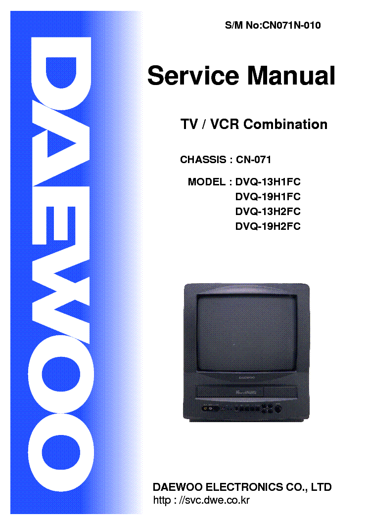 Daewoo Cn071 Chassis Dvq13h1fc Tv