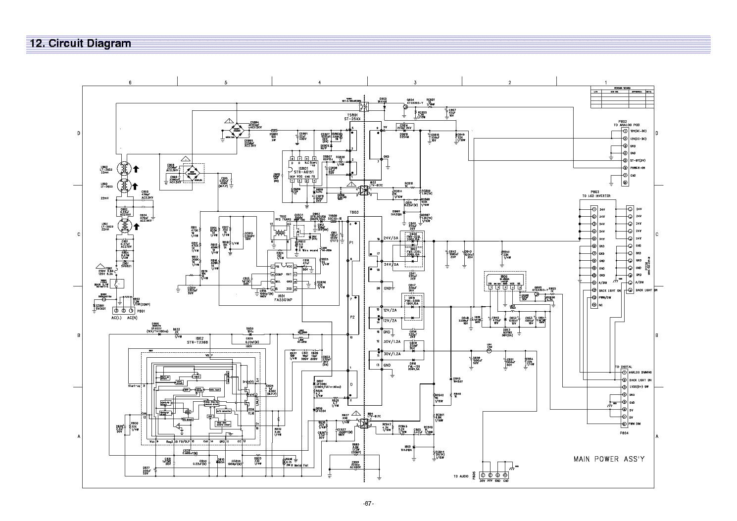 daewoo dlx26c2 sl223x fel3237ub power