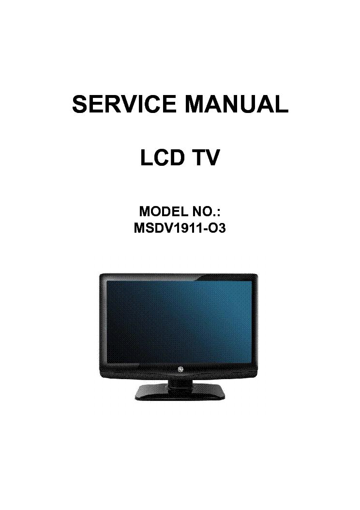 awa msdv1911 o3 lcd tv service manual download schematics eeprom rh elektrotanya com Owner's Manual Instruction Manual