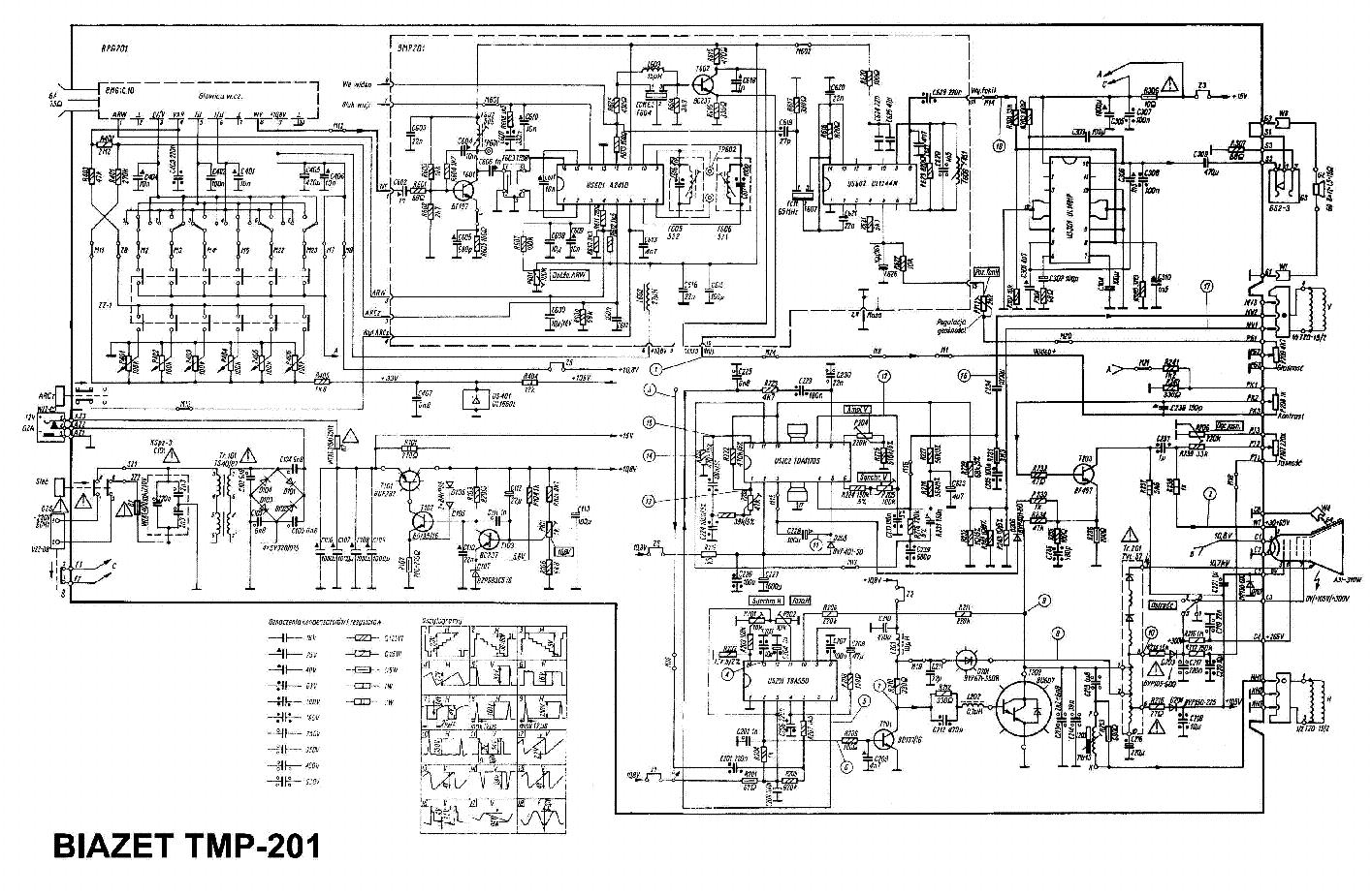 BIAZET TC-201 TC-202 TV Service Manual download, schematics, eeprom