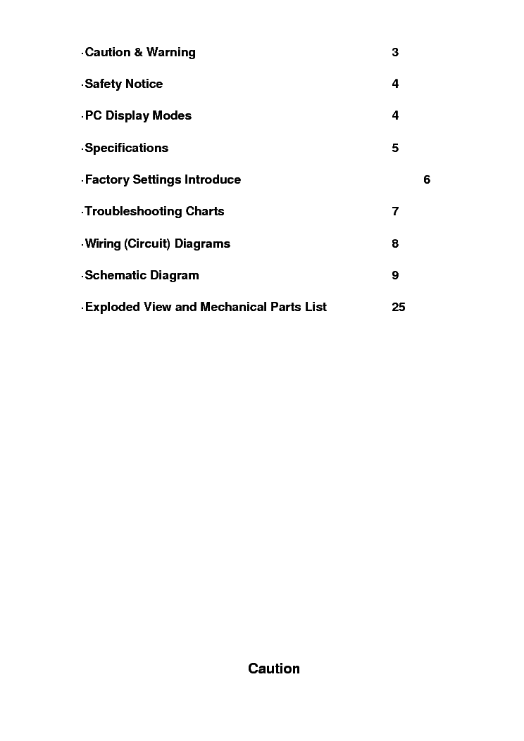 CONTENT T.MSD309.8B service manual (2nd page)