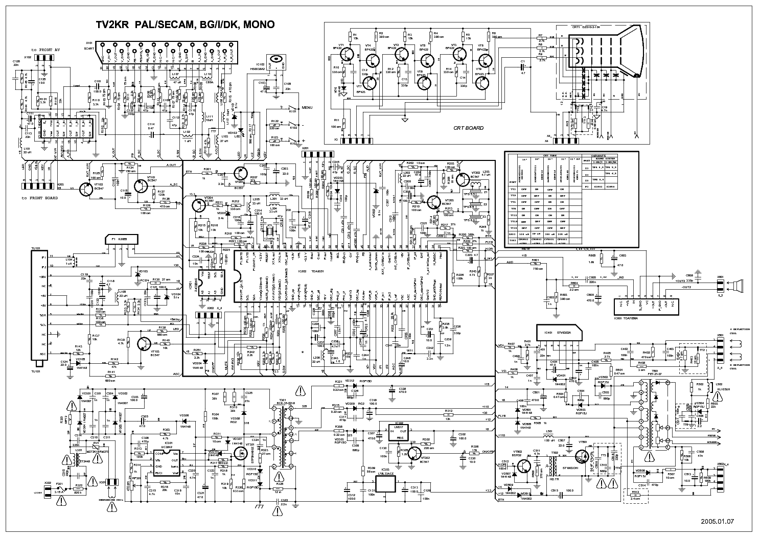 orion t2150stx 2136 chassis tv2kr service manual download  schematics  eeprom  repair info for