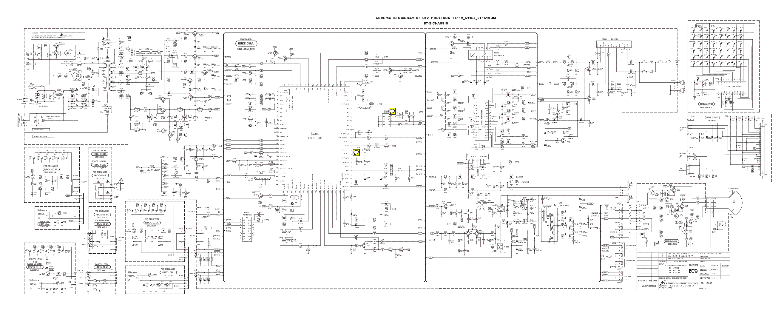 Polytron Tv Schematic Diagram Archive Of Automotive Wiring Tube Light Pdf T5112 51160 51161vum Bt9chs Sch Service Manual Download Rh Elektrotanya Com