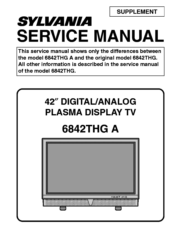 sylvania 6842pe m l0655uf 060914 pdp tv service manual download rh elektrotanya com  Mount Vernon Model