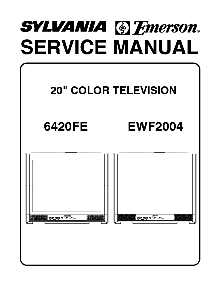 sylvania emerson 6420fe ewf2004 tv sm service manual download rh elektrotanya com Repair Manuals Repair Manuals