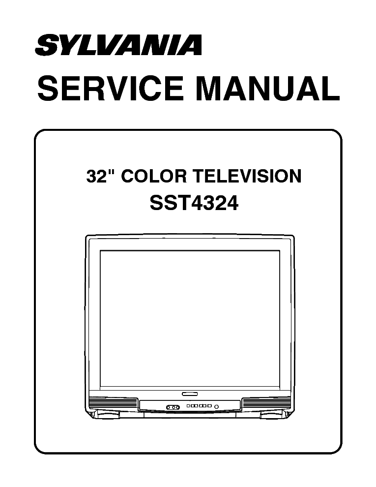 Sylvania Sst4324 Service Manual