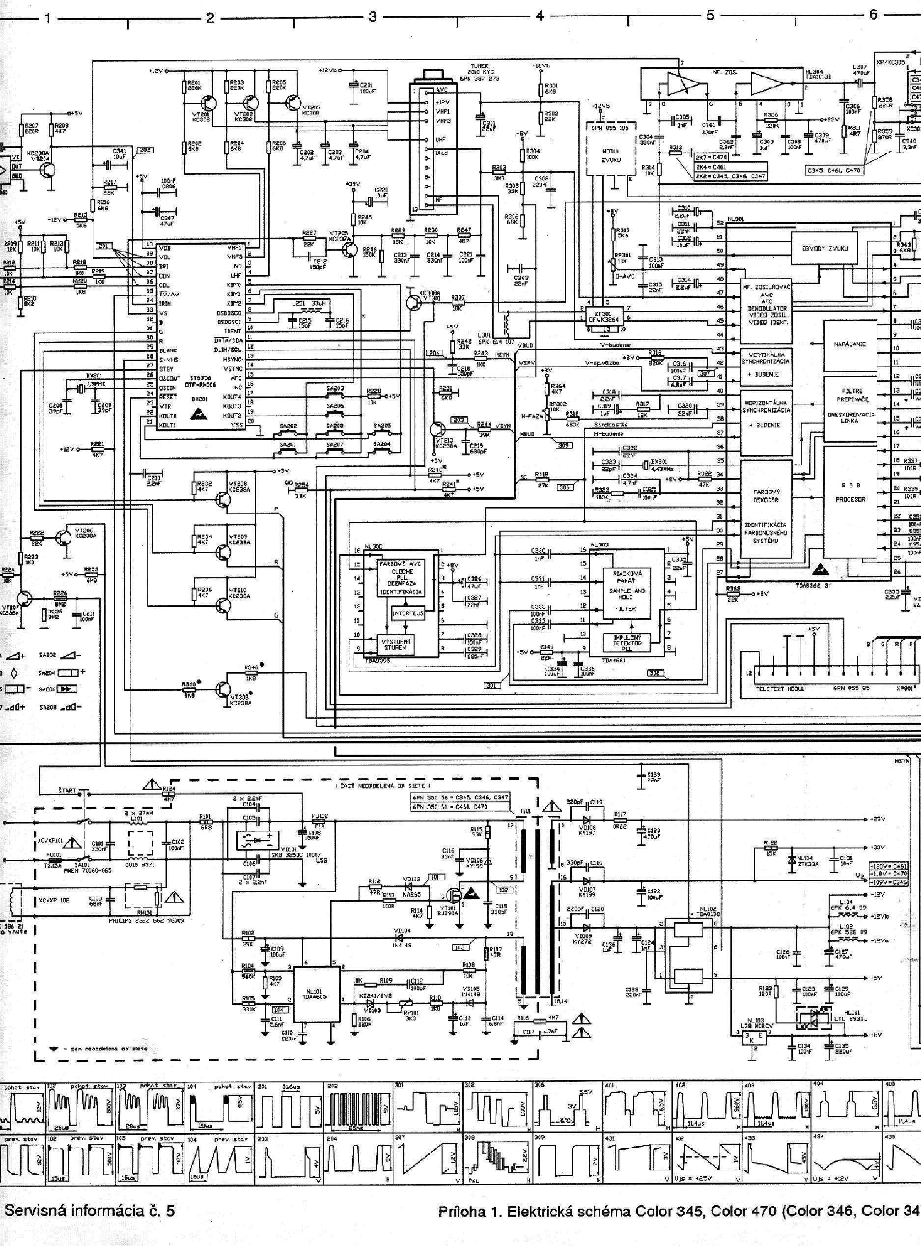 Tv Color345 Schema Service Manual Download  Schematics