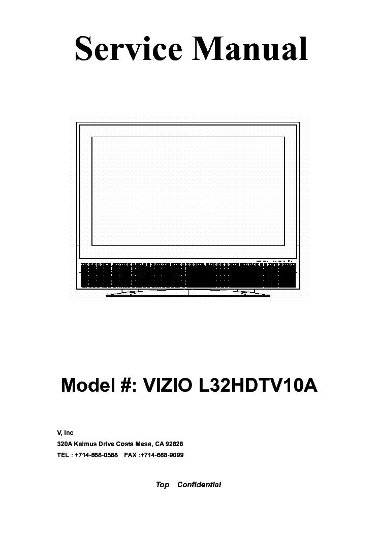 vizio l32hdtv10a lcd service manual download schematics eeprom rh elektrotanya com Vizio TV Parts Screen Vizio TV Parts Screen