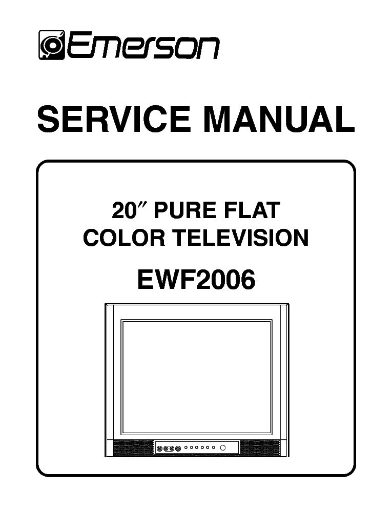 "emerson ewf2006 sm service manual download schematics eeprom rh elektrotanya com Emerson 32"" Class LCD 720P Emerson Television Parts Lists"