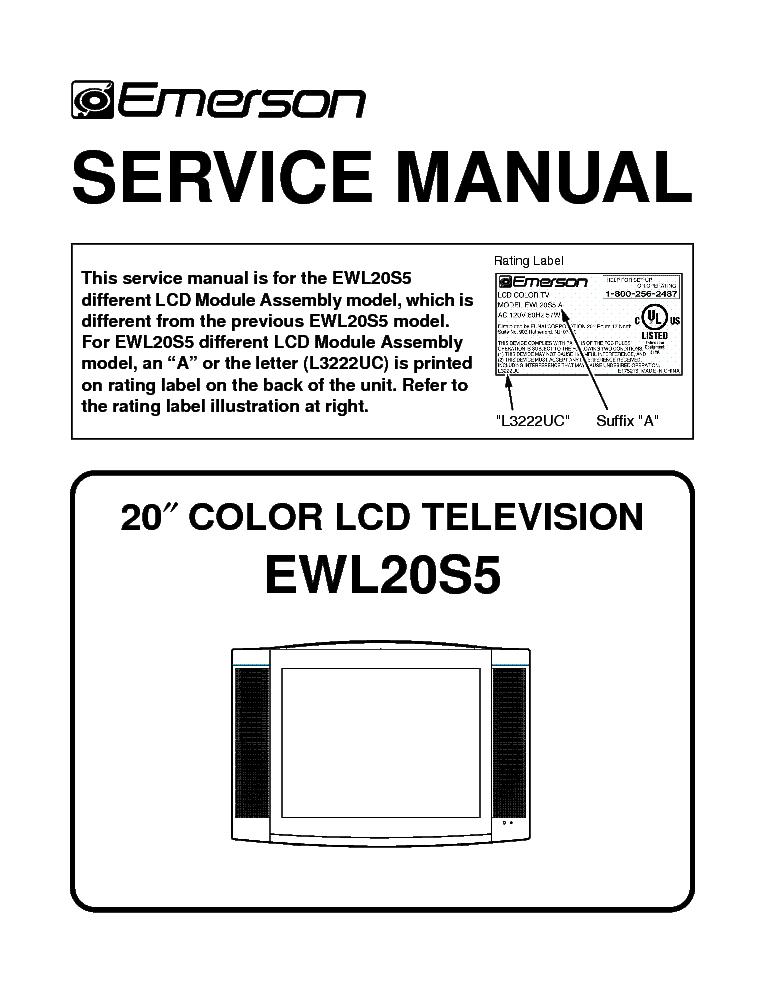 emerson ewf2004 service manual download schematics eeprom repair rh elektrotanya com Emerson TV Technical Help Emerson TV Technical Help