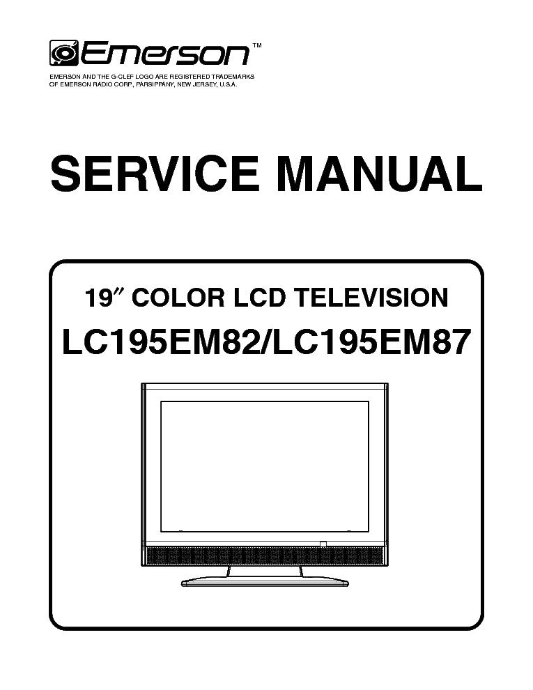 emerson lc195em82 lc195em87 service manual download schematics rh elektrotanya com