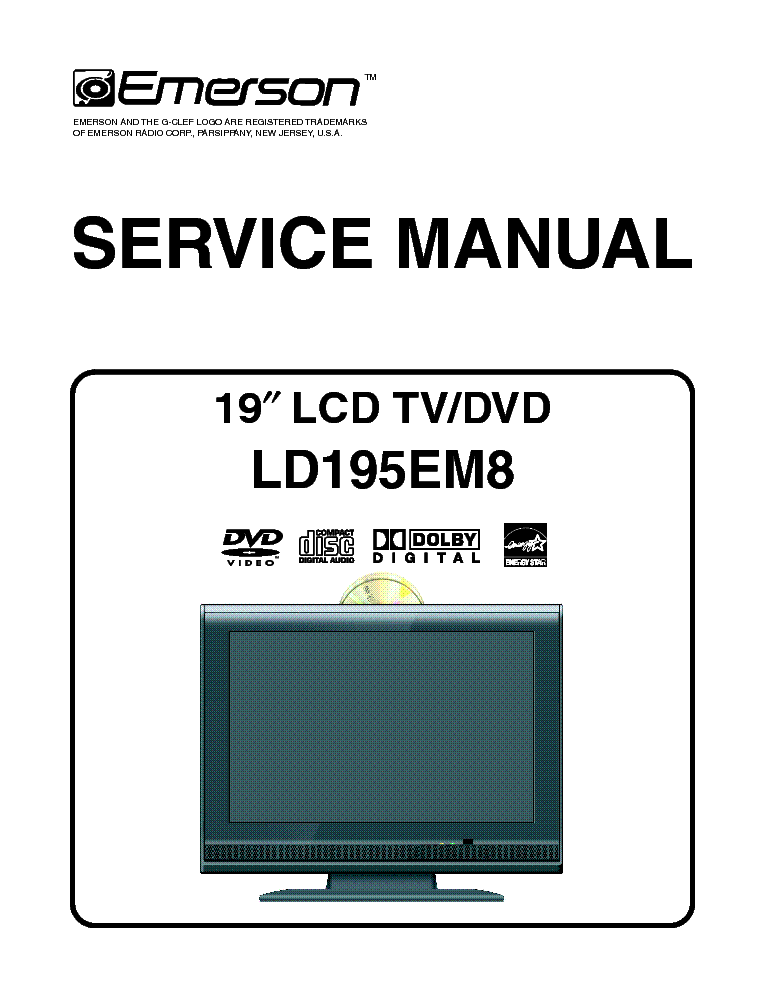 Emerson lcd Tv manual