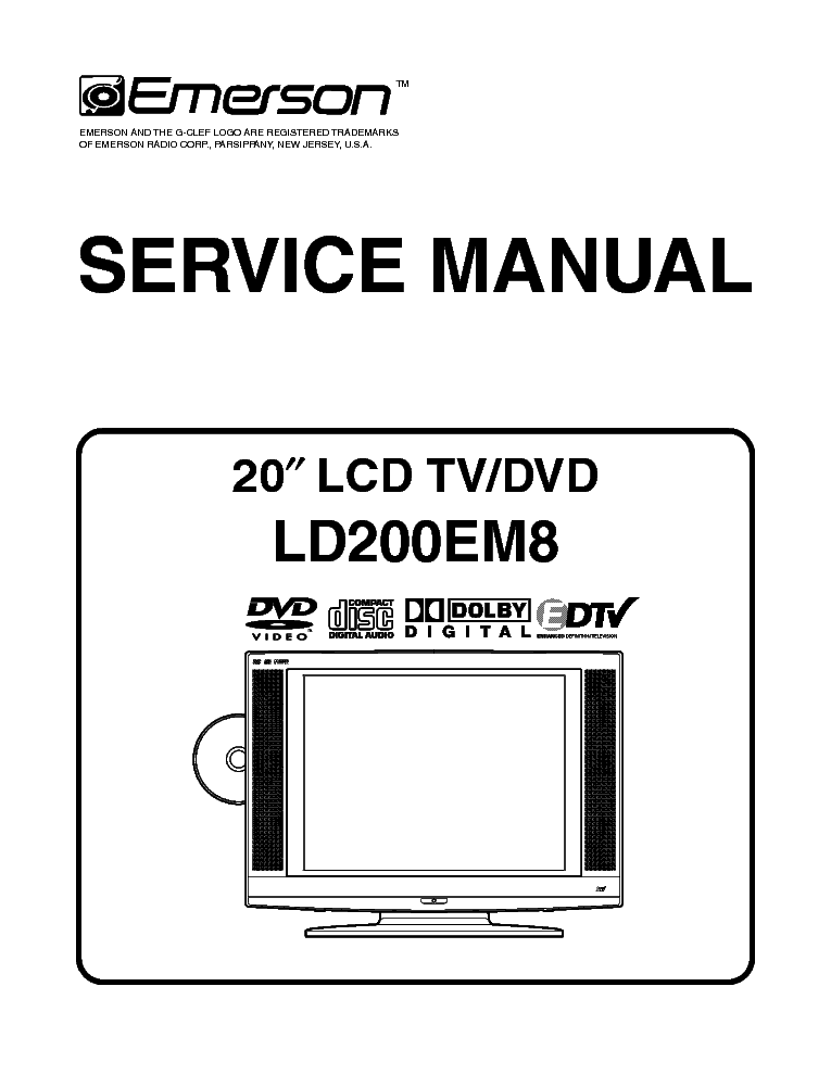 Emerson tv ld200em8 manual