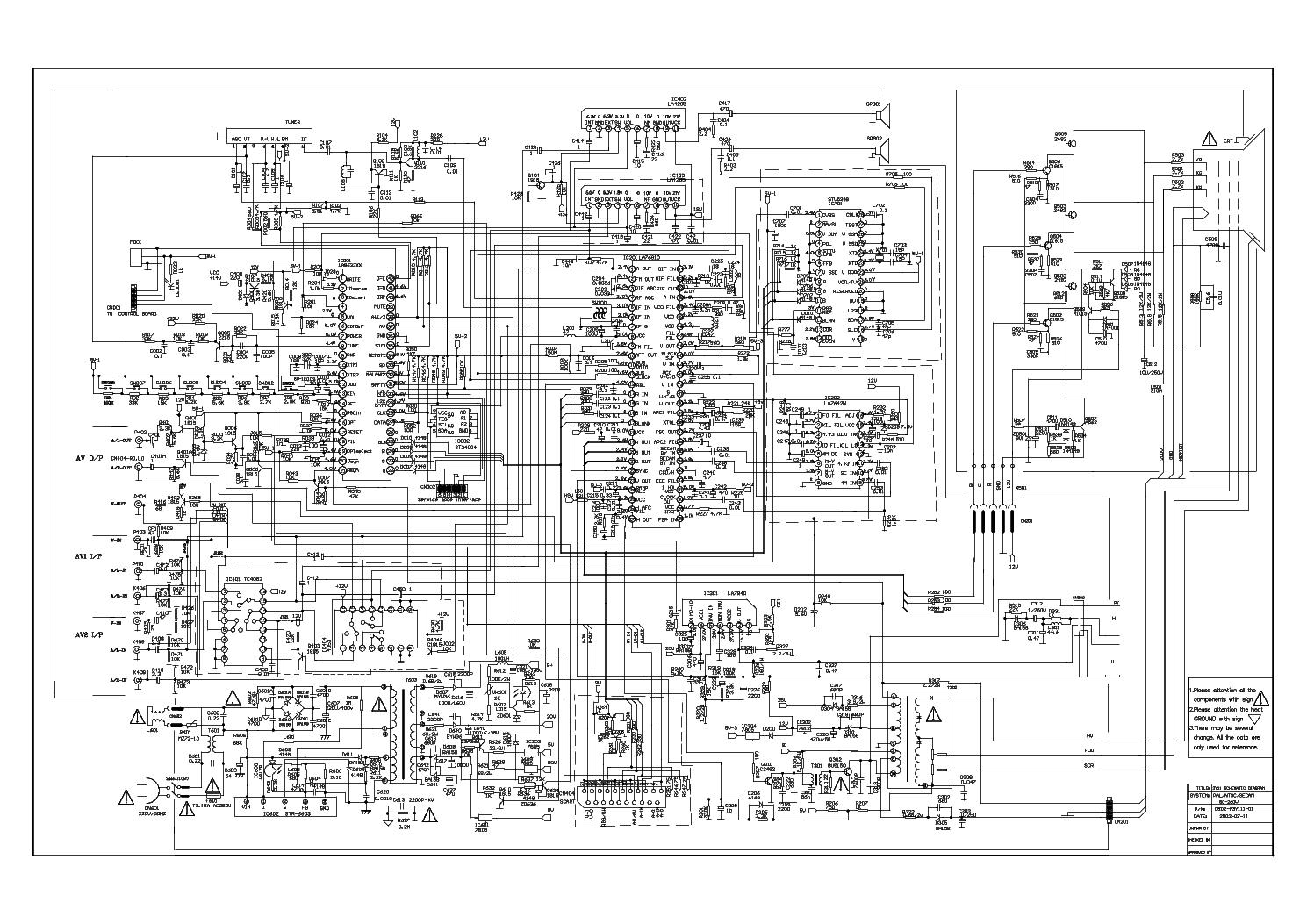 erisson телевизор 1407 схема