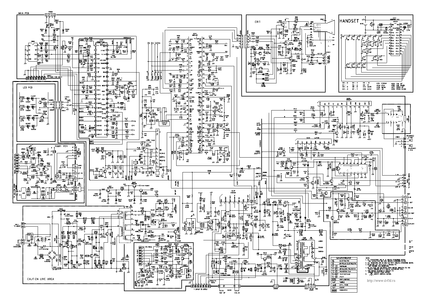 Схема телевизора erisson 21sf36