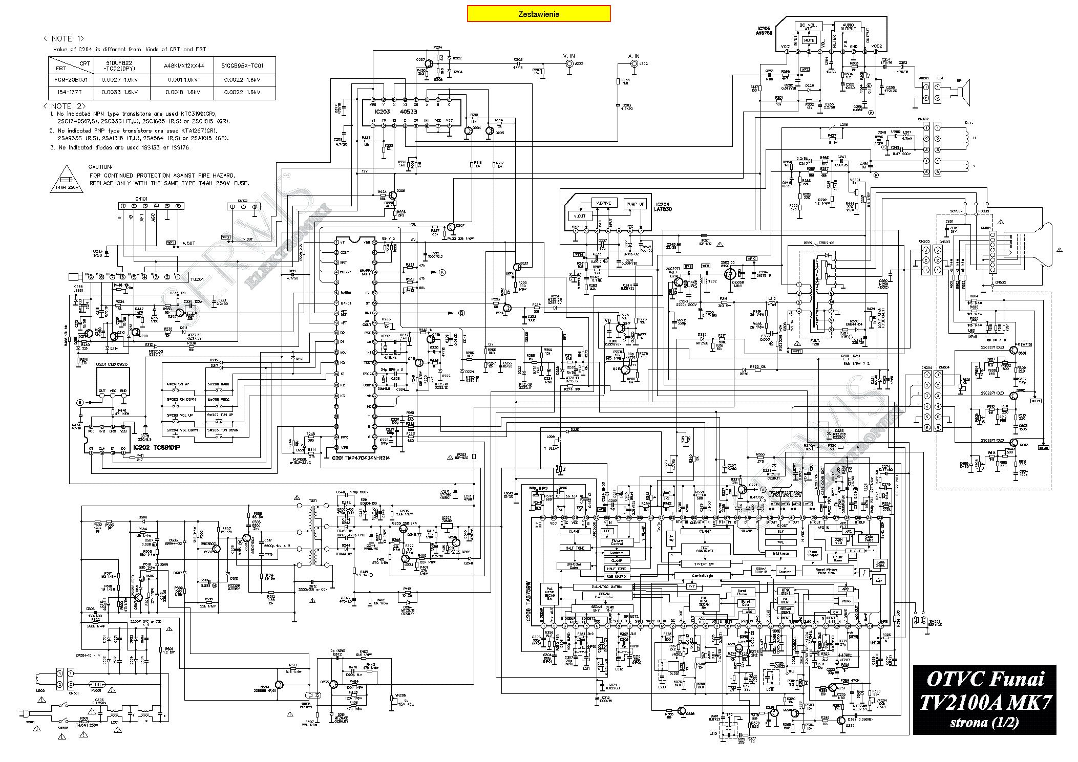 Схема телевизора funai tv 2100a mk8