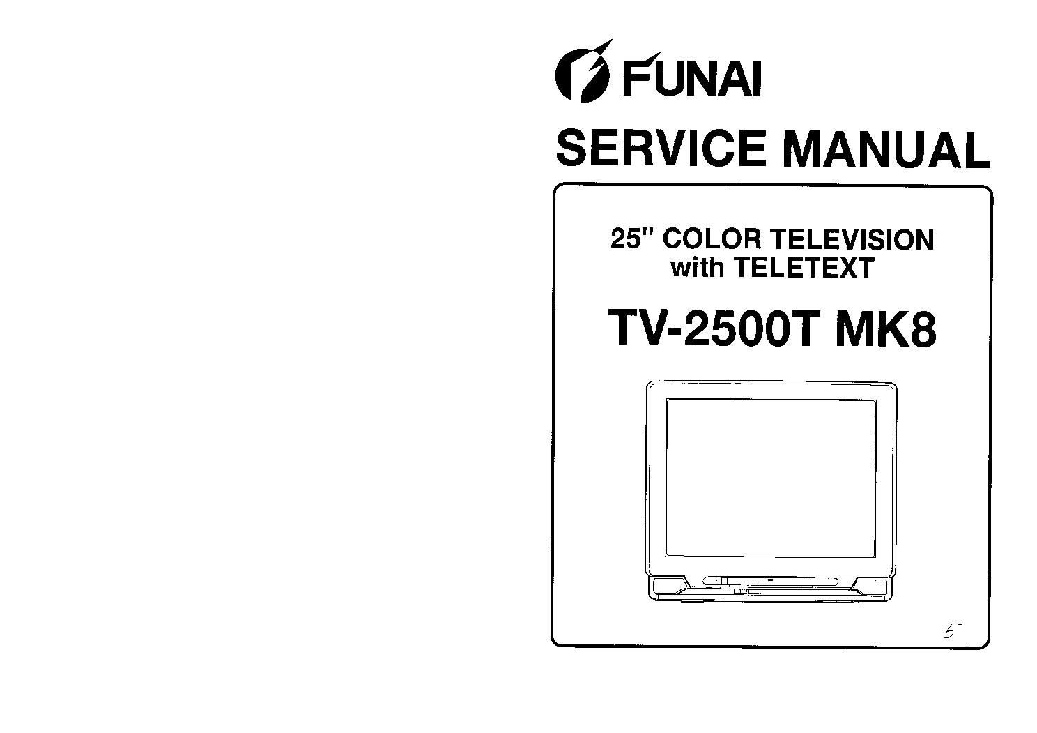 FUNAI TV2500T MK8 SM