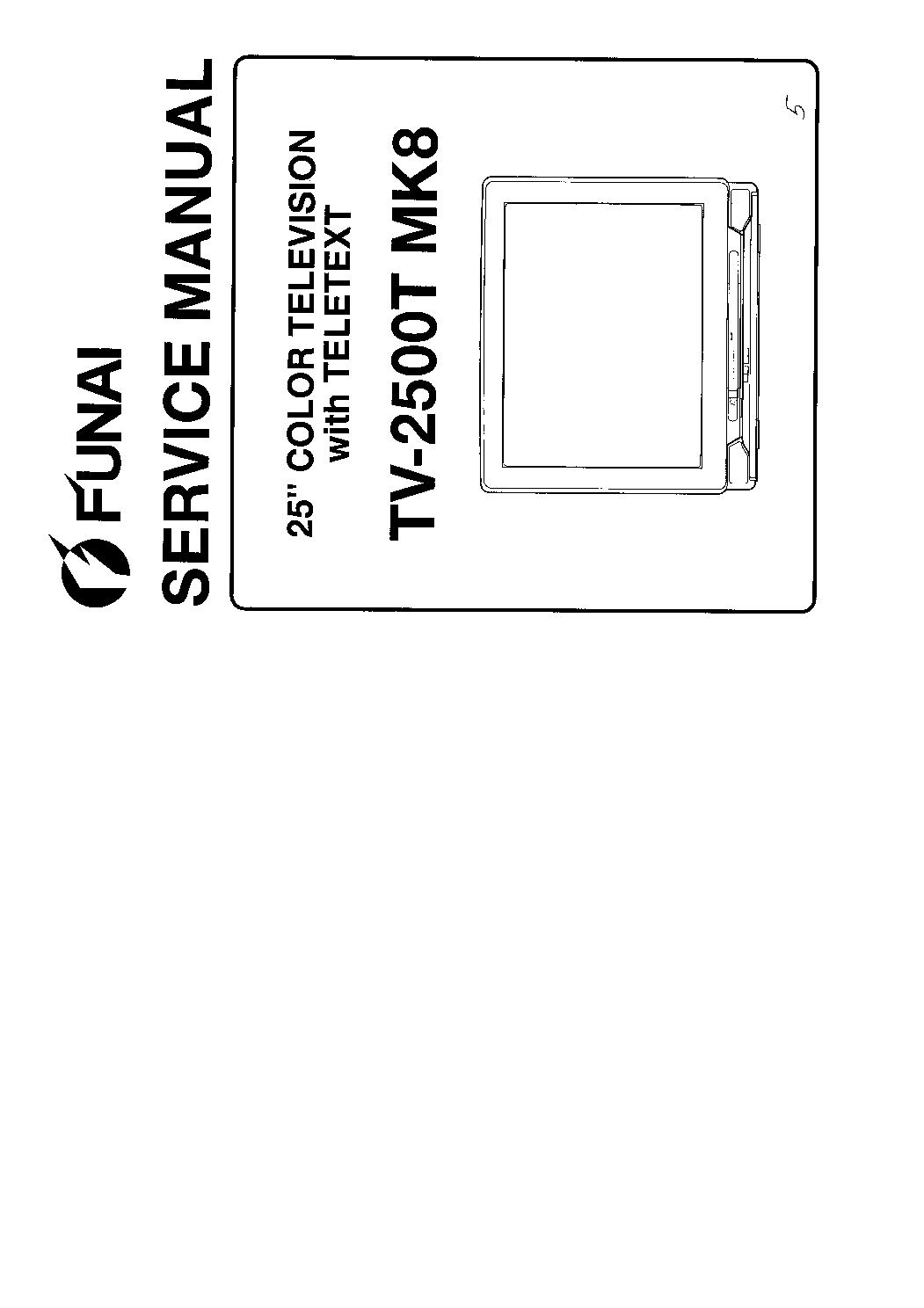 FUNAI TV2500TMK8 SM
