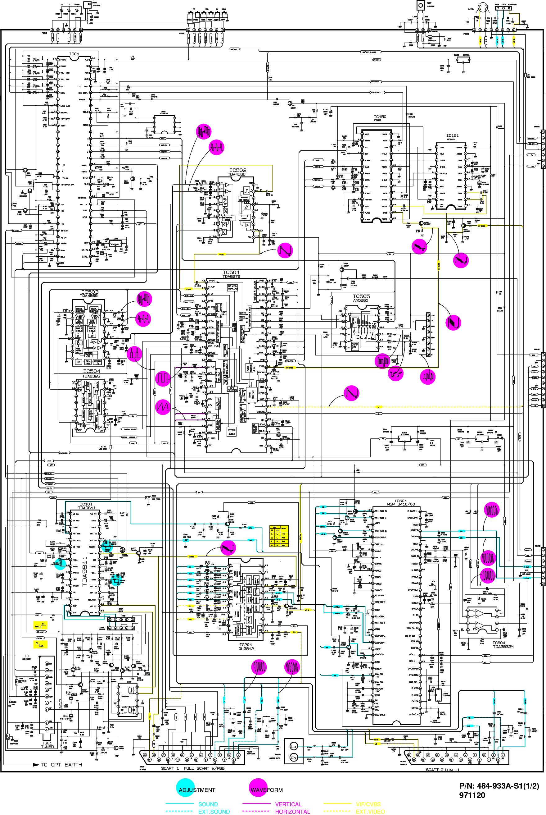 Схемы телевизоров lg 29