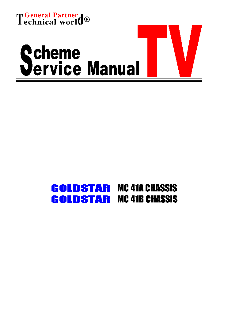 GOLDSTAR CHASSIS MC41A MC41B service manual (1st page)
