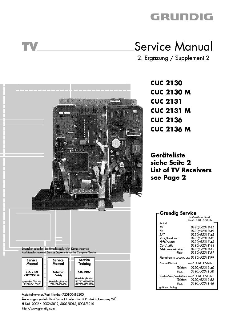 Grundig 041 6200 Cuc2130 Service Manual Download