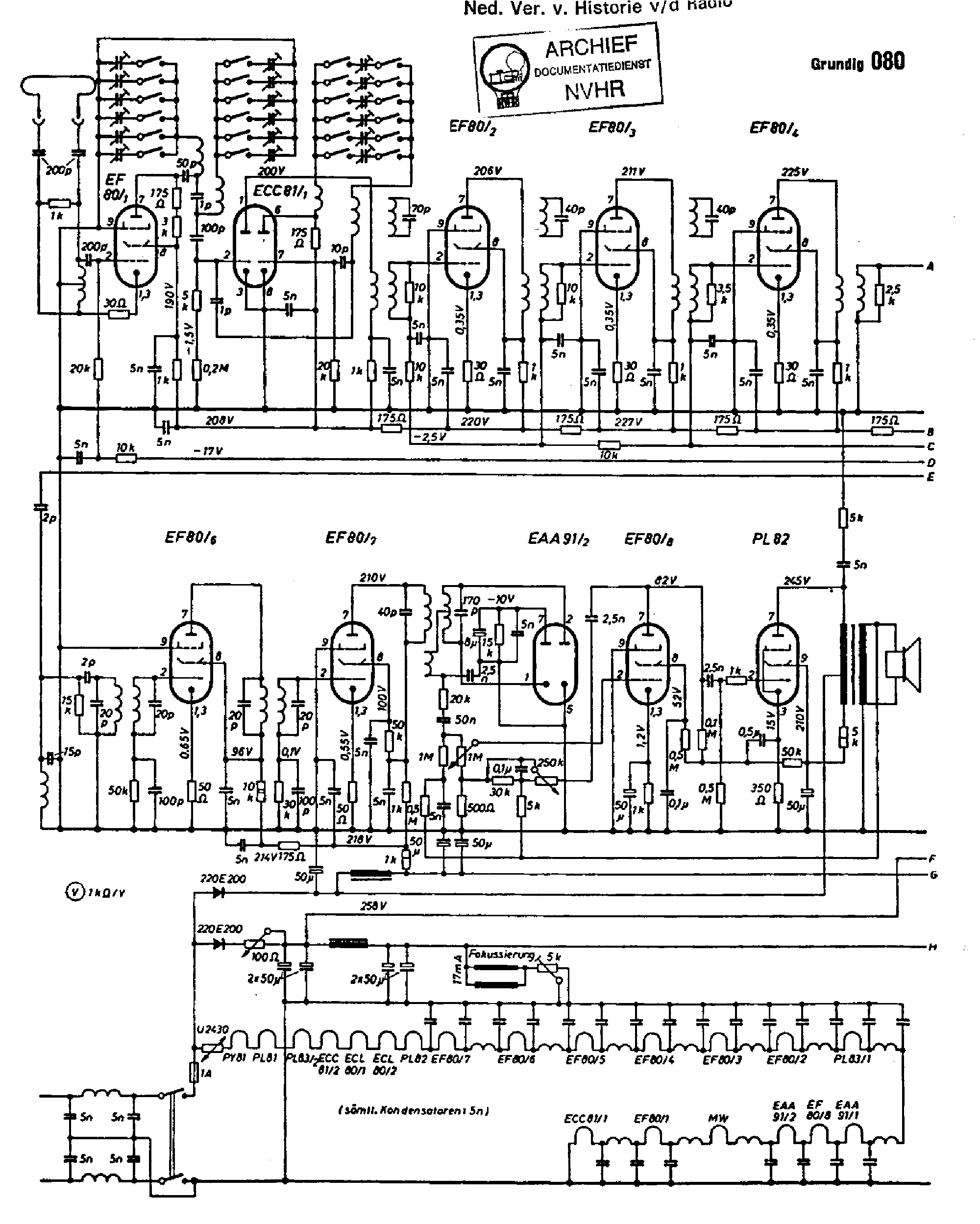 Grundig 080 Tv Receiver 1951 Sch Service Manual Download