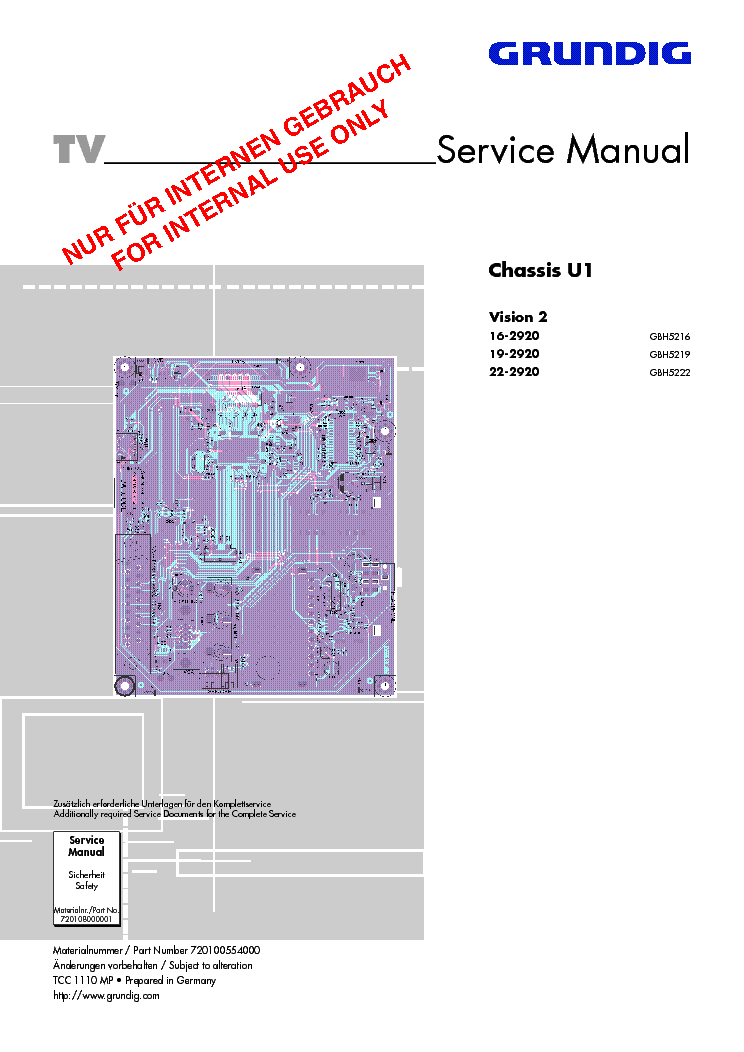Connection/preparation   grundig vision ii lxw 68-9620 user manual.