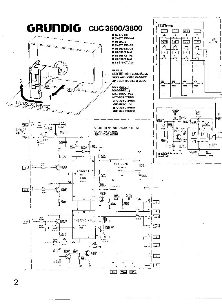 GRUNDIG CUC-3600,3800 SCH service manual (1st page)